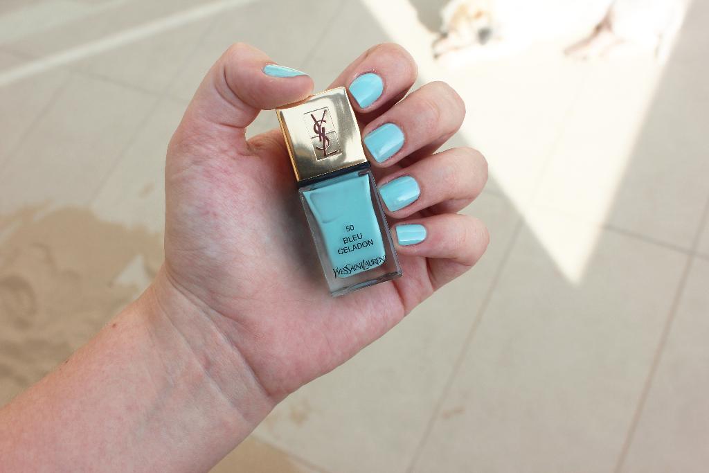 YSL Bleu Celadon swatch
