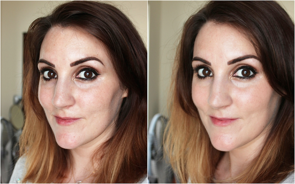 Chanel Les Beige Healthy Glow Fluid Before and After