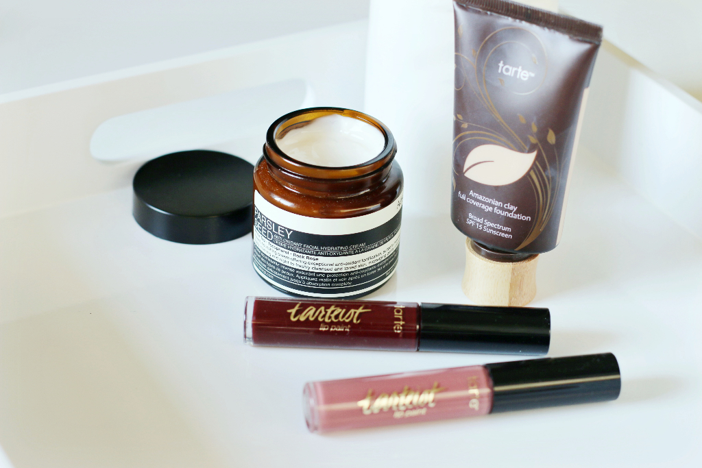 beauty favourites, currently loving, aesop, tarte cosmetics
